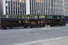 Camion di UPS Fotografia Stock