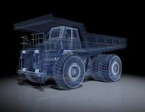 Camion di Wireframe Fotografia Stock Libera da Diritti