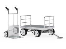 Camion e carrello di mano di trasporto Fotografia Stock Libera da Diritti