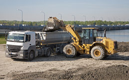 Camion e mucker Fotografia Stock Libera da Diritti