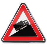 Camion e pendio del segno illustrazione vettoriale