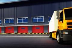Camion et entrepôt illustration libre de droits