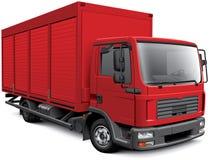 Camion europeo della scatola Fotografia Stock Libera da Diritti