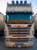 Camion fronte commovente Fotografie Stock