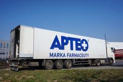 Camion garé d'Apteo Photographie stock libre de droits