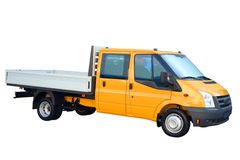 Camion giallo-chiaro Fotografia Stock Libera da Diritti