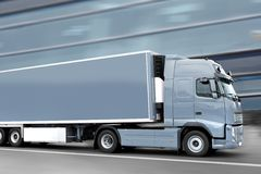 Camion grigio Fotografia Stock