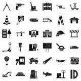 Camion icons set, simple style. Camion icons set. Simple set of 36 camion vector icons for web isolated on white background Royalty Free Stock Image