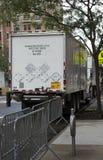 Camion infectieux de collecte des déchets images libres de droits