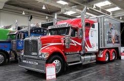 Camion internazionale di esposizione Immagine Stock
