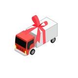 Camion isometrico del giocattolo Fotografie Stock