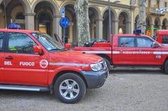 Camion italiano dei vigili del fuoco Fotografie Stock Libere da Diritti