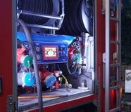 Camion italien de corps de sapeurs-pompiers, détail photographie stock libre de droits