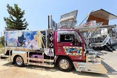 Camion japonais de cargaison de décoration Image libre de droits