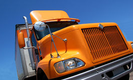 Camion jaune Photo libre de droits