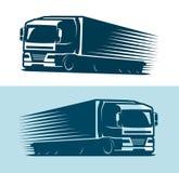 Camion, logo del camion o etichetta Trasportando, simbolo di consegna Illustrazione di vettore royalty illustrazione gratis