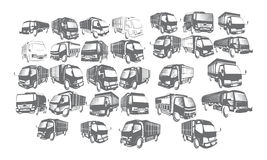 Camion Logo Set Collections Photo stock