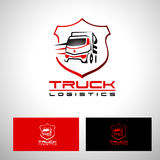 Camion Logo Vector Design de transport Image libre de droits