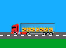 Camion Lorry Icon Design Style Flat Immagine Stock
