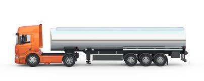 Camion lungo arancio Immagine Stock Libera da Diritti