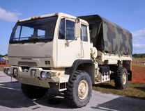 Camion militaire photo stock