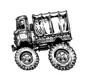 Camion militaire Images stock