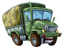 Camion militaire de bande dessinée - caricature Photo stock