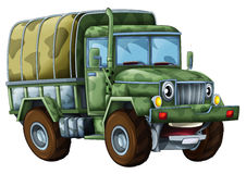 Camion militaire de bande dessinée - caricature Photo stock