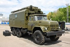 Camion militaire russe image stock