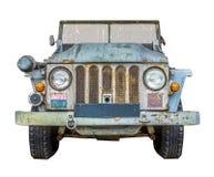 Camion militare di tempo di guerra su bianco fotografie stock libere da diritti