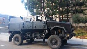 Camion militare industriale Fotografia Stock