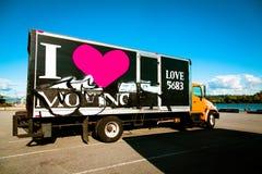 Camion mobile Images libres de droits