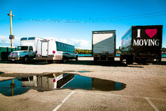Camion mobile photographie stock