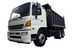 Camion moderno con una carrozza bianca Immagini Stock Libere da Diritti