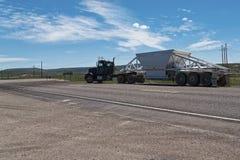 Camion na boa vinda da estrada a Utá imagens de stock royalty free