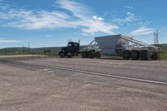 Camion na drogi powitaniu Utah Obrazy Royalty Free