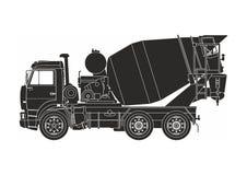 Camion nero del cemento royalty illustrazione gratis