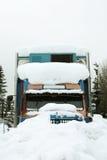 Camion in neve fotografie stock libere da diritti