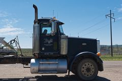 Camion On Road Welcome To Utah. Stock Photography