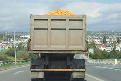 Camion orange Photo libre de droits