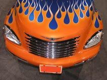 Camion orange - flammes bleues photos stock