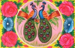 Camion pakistano Art Pigeon ed amore Fotografie Stock Libere da Diritti