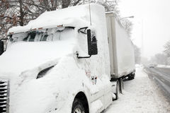 Camion parcheggiato Fotografie Stock