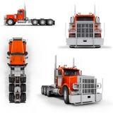 Camion pesante rosso illustrazione vettoriale