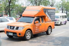 Camion pick-up de Kerry Express Parcel Delivery Service photo stock