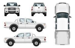 Camion pick-up de vecteur sur le fond blanc Photos stock