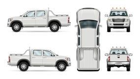 Camion pick-up de vecteur sur le fond blanc Images stock