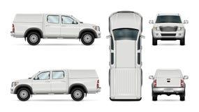 Camion pick-up de vecteur sur le fond blanc Photos libres de droits