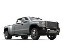 Camion pick-up métallique argenté - tir d'angle faible illustration libre de droits