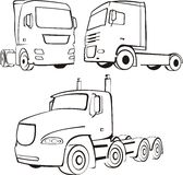 Camion, pista, tir Illustrazione Vettoriale